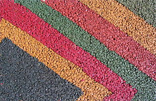 Асфальтирование цветным асфальтом